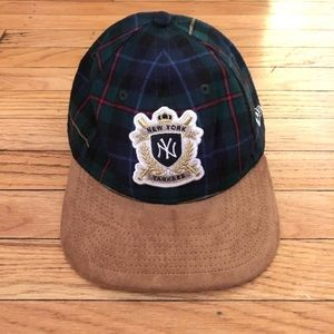 NY Yankees plaid and suede dad cap